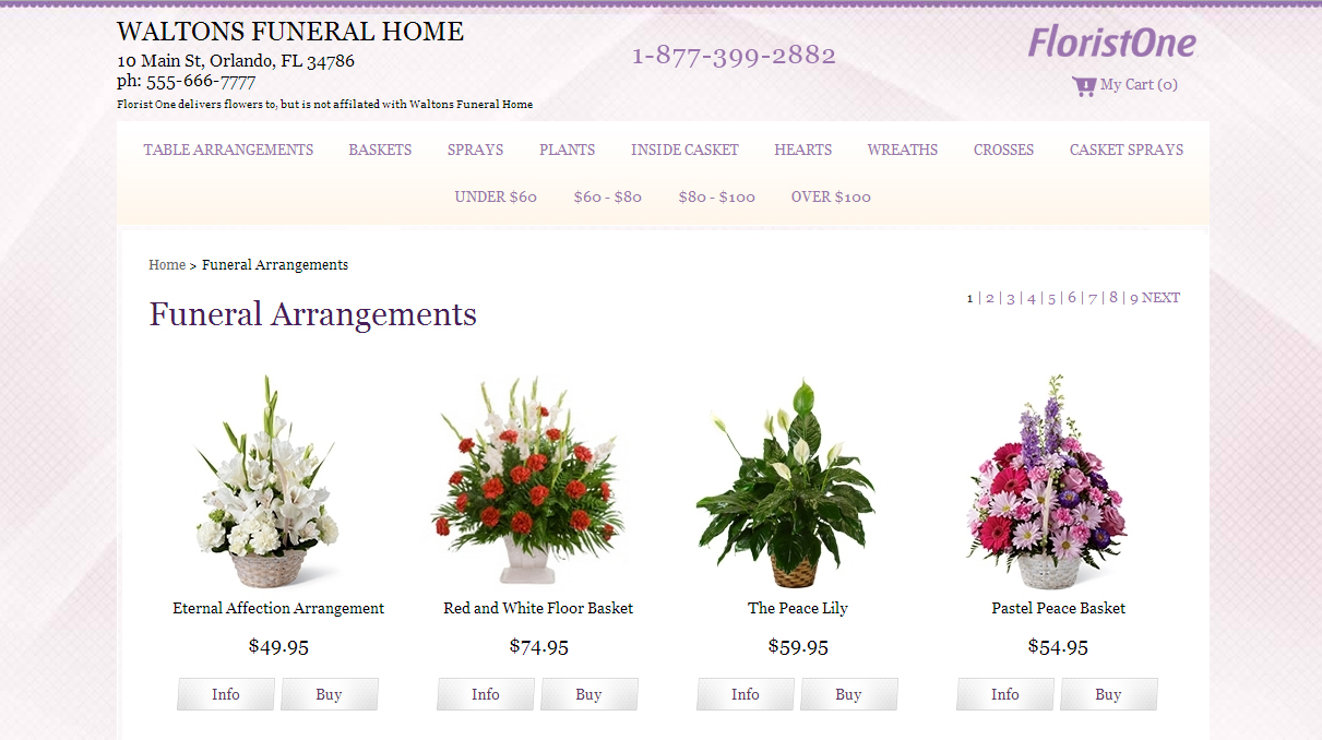 Flowers affiliate program for funeral homes visitors click a send flowers link on a funeral homes website and they are taken to a florist landing page where they see the name of your funeral home izmirmasajfo