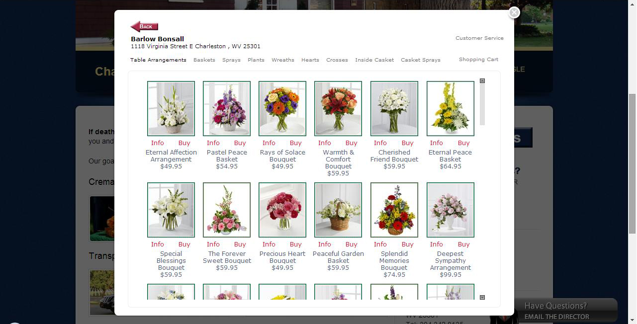 Flowers affiliate program for funeral homes visitors click a send flowers link on a funeral homes website and a flower storefront appears over your website where your visitor can browse and buy dhlflorist Choice Image